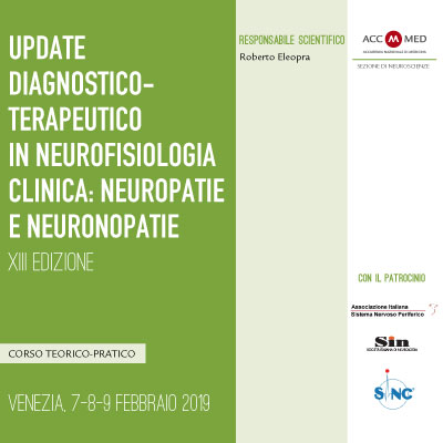 Update diagnostico-terapeutico in neurofisiologia clinica: neuropatie e neuronopatie. XIII Edizione
